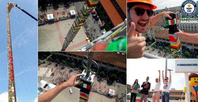 Обновлен рекорд самой высокой башни из LEGO - 35,05 м.