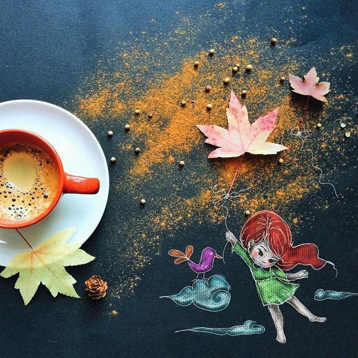 Осень. Автор: Cinzia Bolognesi.
