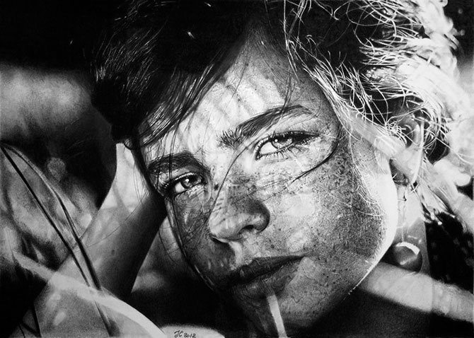 художник, карандаш, картины, гиперреализм
