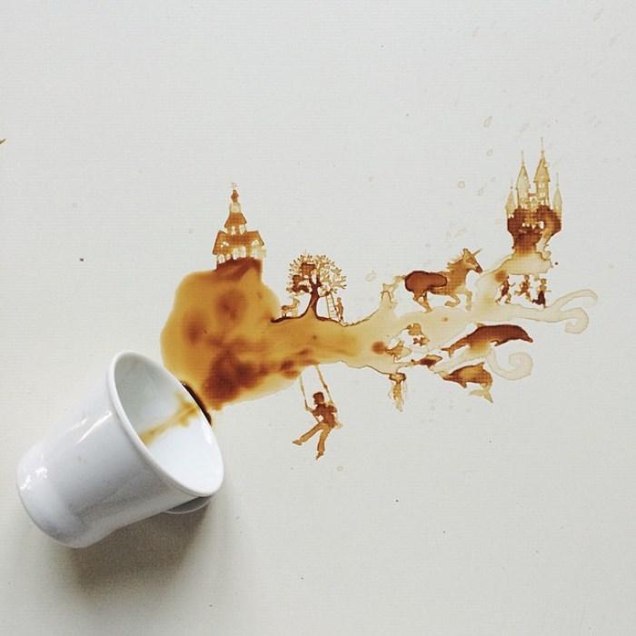 Сказка, написанная пролитым кофе