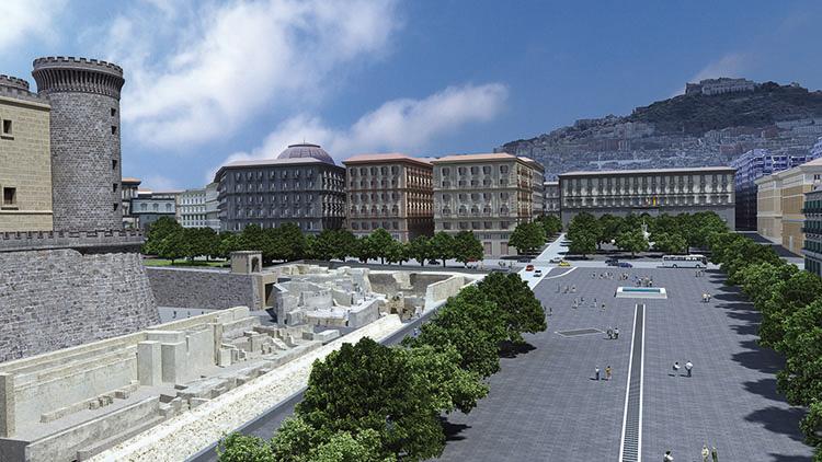 Площадь Муниципалитета, Неаполь